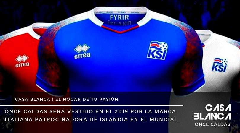 Errea marca deportiva que vestira al once caldas de colombia