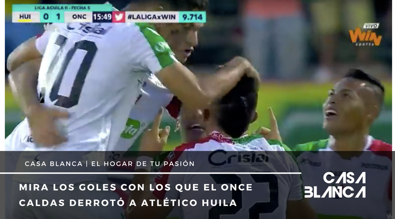 videos goles once caldas Atletico Huila