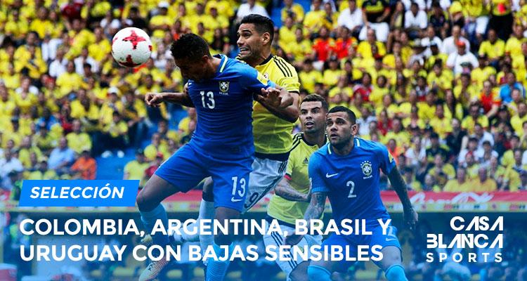 Colombia-Argenitna-Brasil-y-uruguay-con-bajas-sensibles-para-las-fechas-fifa-casa-blanca-sports